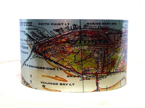 Astoria Oregon Map Cuff Bracelet