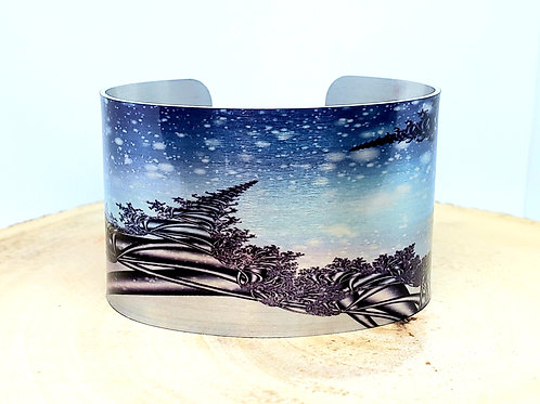Winter Abstract Cuff Bracelet