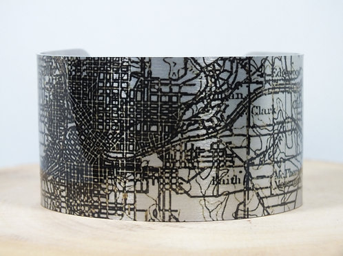 Atlanta Georgia Map Cuff Bracelet