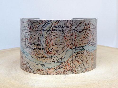 Phantom Ranch Arizona Map Cuff Bracelet