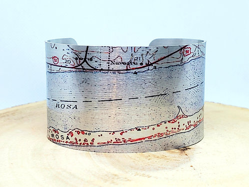 Navarre Beach Florida Map Cuff Bracelet