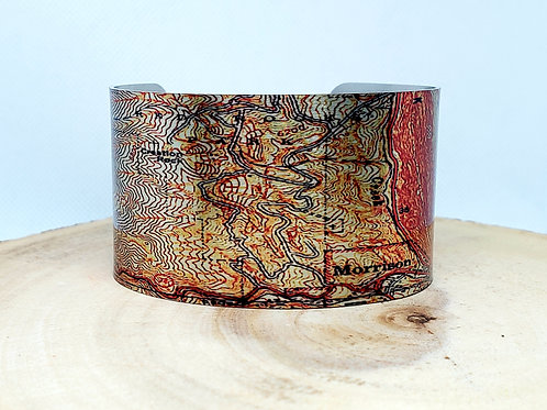 Morrison Colorado Map Cuff Bracelet