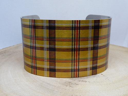 Bumblebee Tartan-Plaid Cuff Bracelet