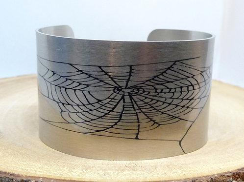 Spider Web Cuff Bracelet