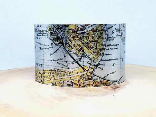 Stockholm Sweden Map Cuff Bracelet