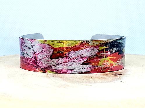 Foliage Slim Cuff Bracelet