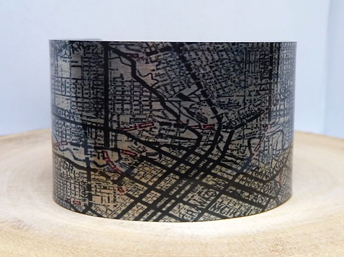 Houston Texas Map Cuff Bracelet