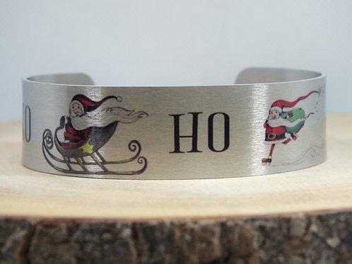 Ho Ho Ho Slim Cuff Bracelet