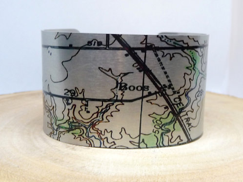 Boos Illinois Map Cuff Bracelet