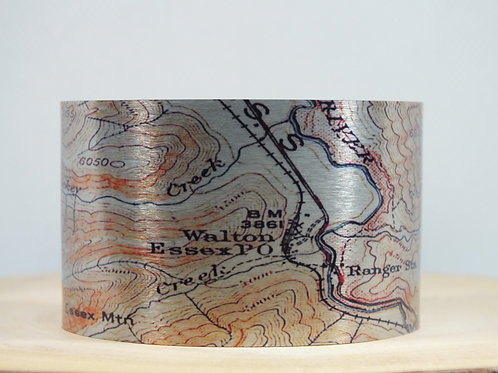 Essex Montana Map Cuff Bracelet