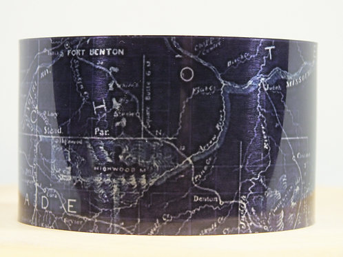 Cascade County Montana 1899 Map Cuff Bracelet