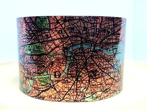 London England Map Cuff Bracelet