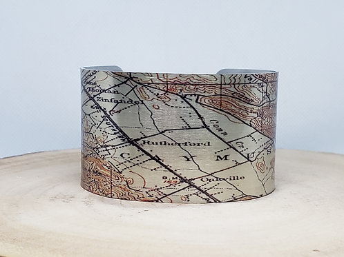 Napa County California Map Cuff Bracelet