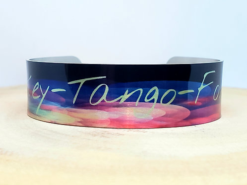 Whiskey Tango Foxtrot slim cuff bracelet