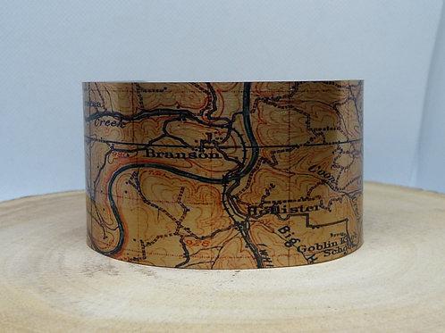 Branson Missouri Map Cuff Bracelet