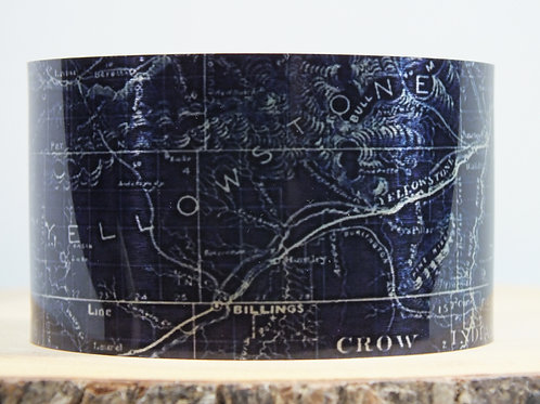 Yellowstone County Montana 1899 Map Cuff Bracelet