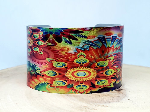 Summer Psychedelic Cuff Bracelet