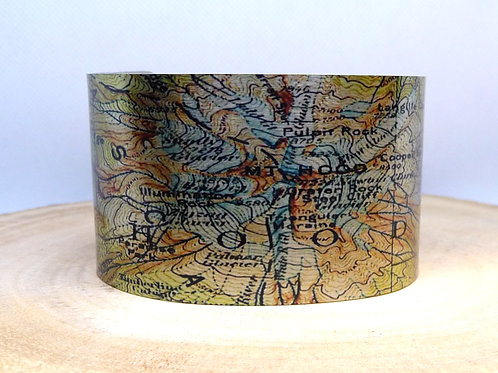 Mt Hood Oregon Map Cuff Bracelet
