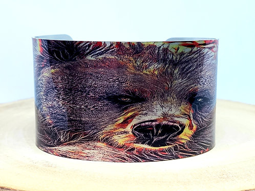 Grizzly Bear Cuff Bracelet