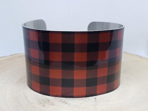 Buffalo Plaid-Tartan Cuff Bracelet