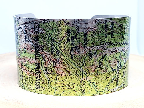 Bob Marshall Wilderness Montana Map Cuff Bracelet