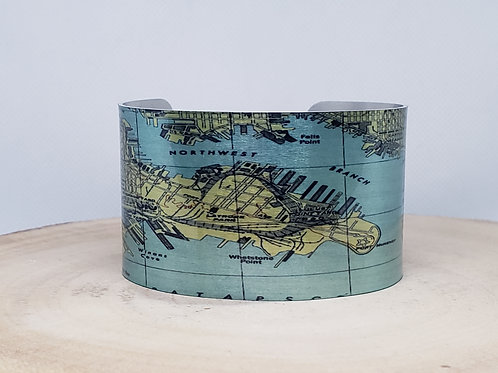 Baltimore Maryland Map Cuff Bracelet