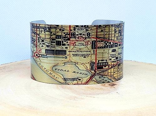 Washington DC Map Cuff Bracelet