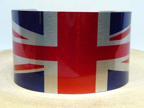 United Kingdom Union Jack Flag Cuff Bracelet