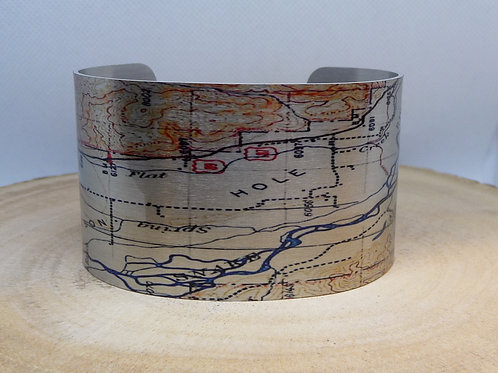 Jackson Hole Wyoming Map Cuff Bracelet