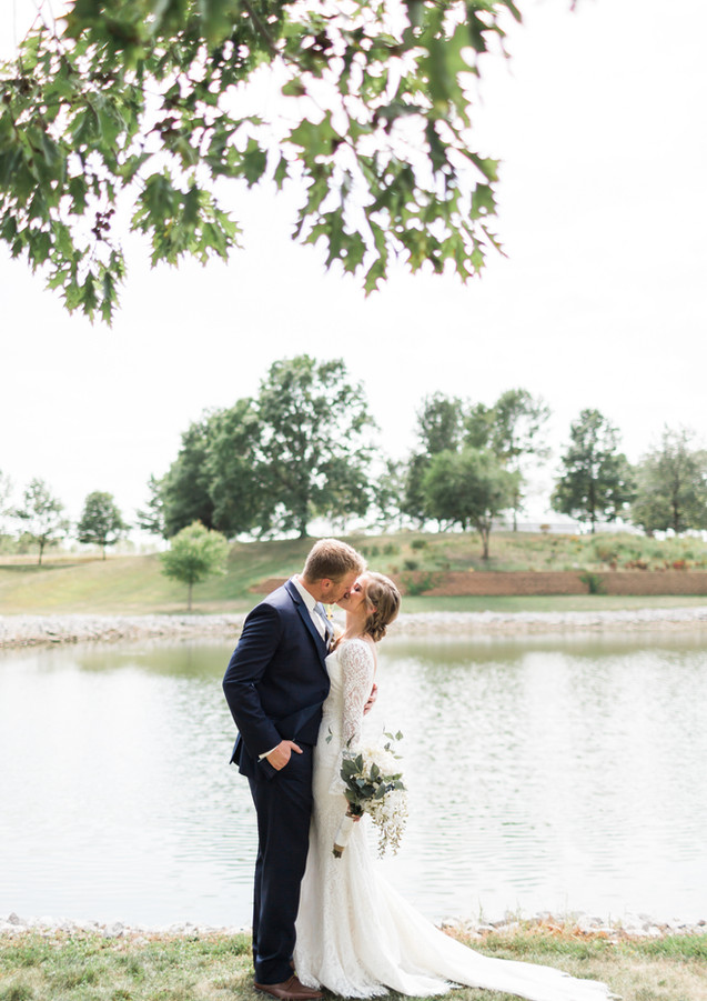 Photo of Bride and Groom at FarmPond Inn by GG Photography