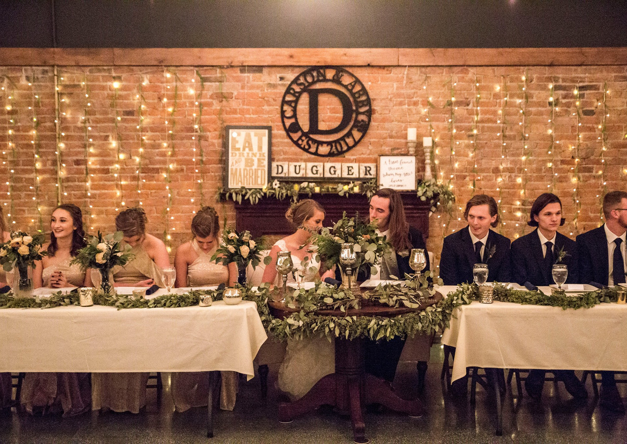 Head table photo by Bre Ashley Photography