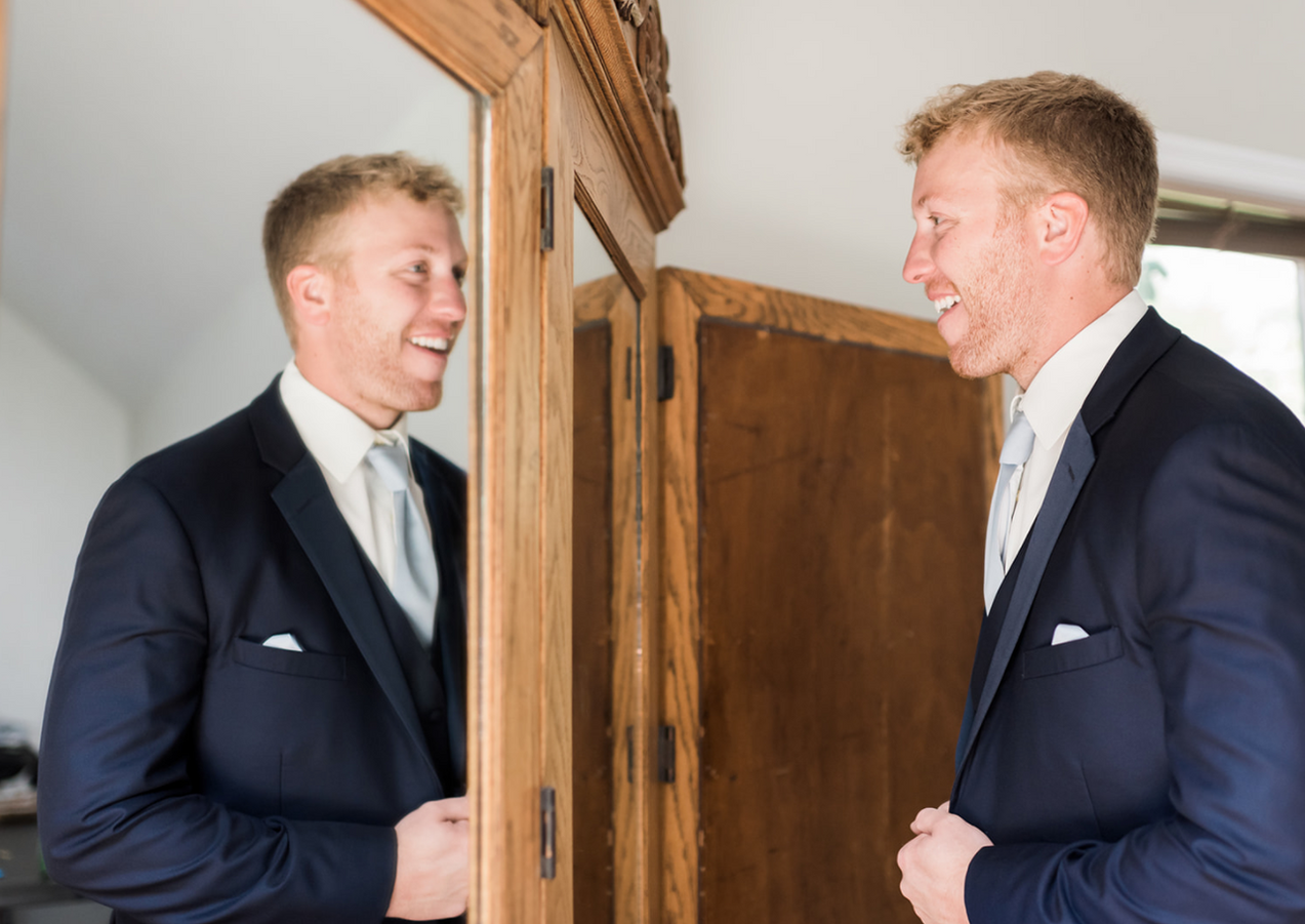 Photo in groom's suite by GG Photography