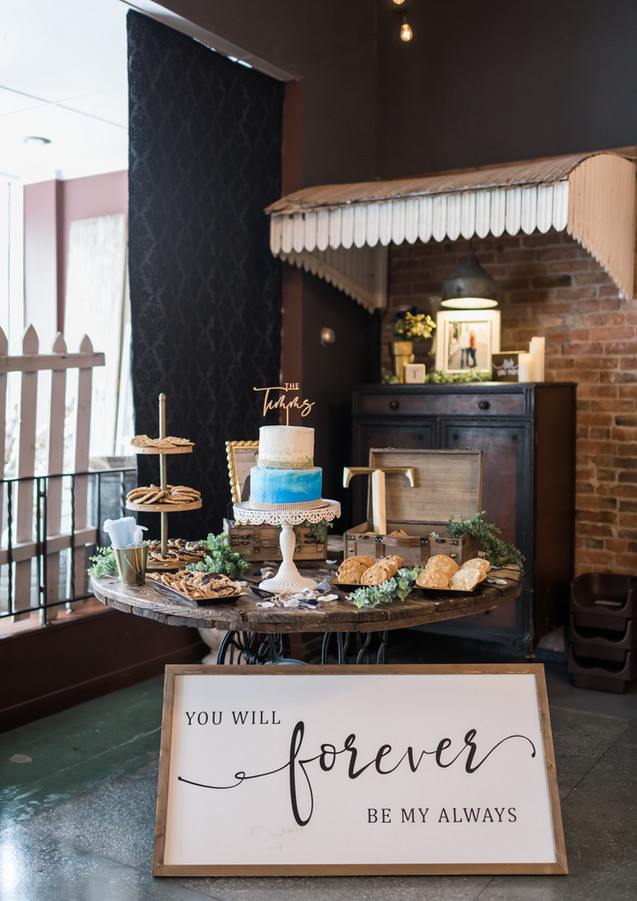 Photo of dessert table corner by GG Photography