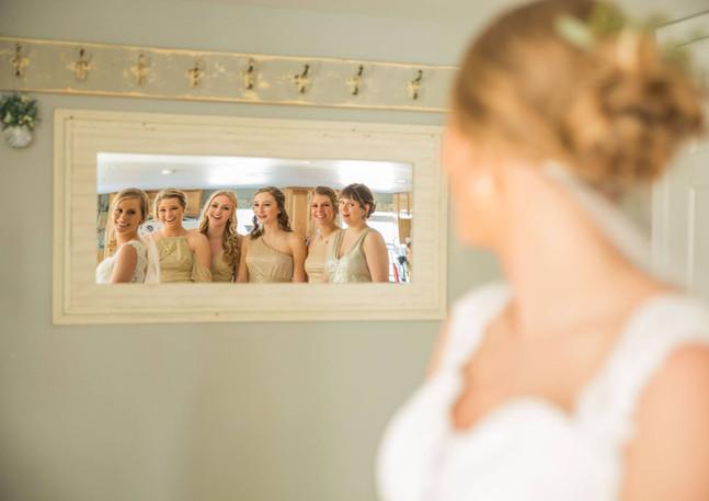 Bridal first looks at FarmPond Inn by Bre Ashley Photography