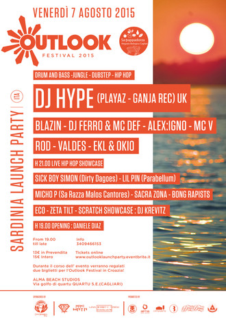 07/09 OUTLOOK LAUNCH PARTY @ ALMA BEACH (Cagliari)