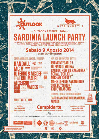 09/08 OUTLOOK LAUNCH PARTY@ CAMPIDARTE , (Ussana CA)