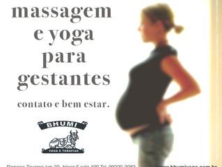Massagem e Yoga para gestantes