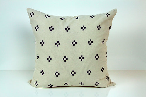 "Block Print 22""x22"" Pillow Cover"