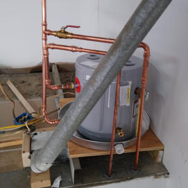 7361P Lockport place, over head hot water heater