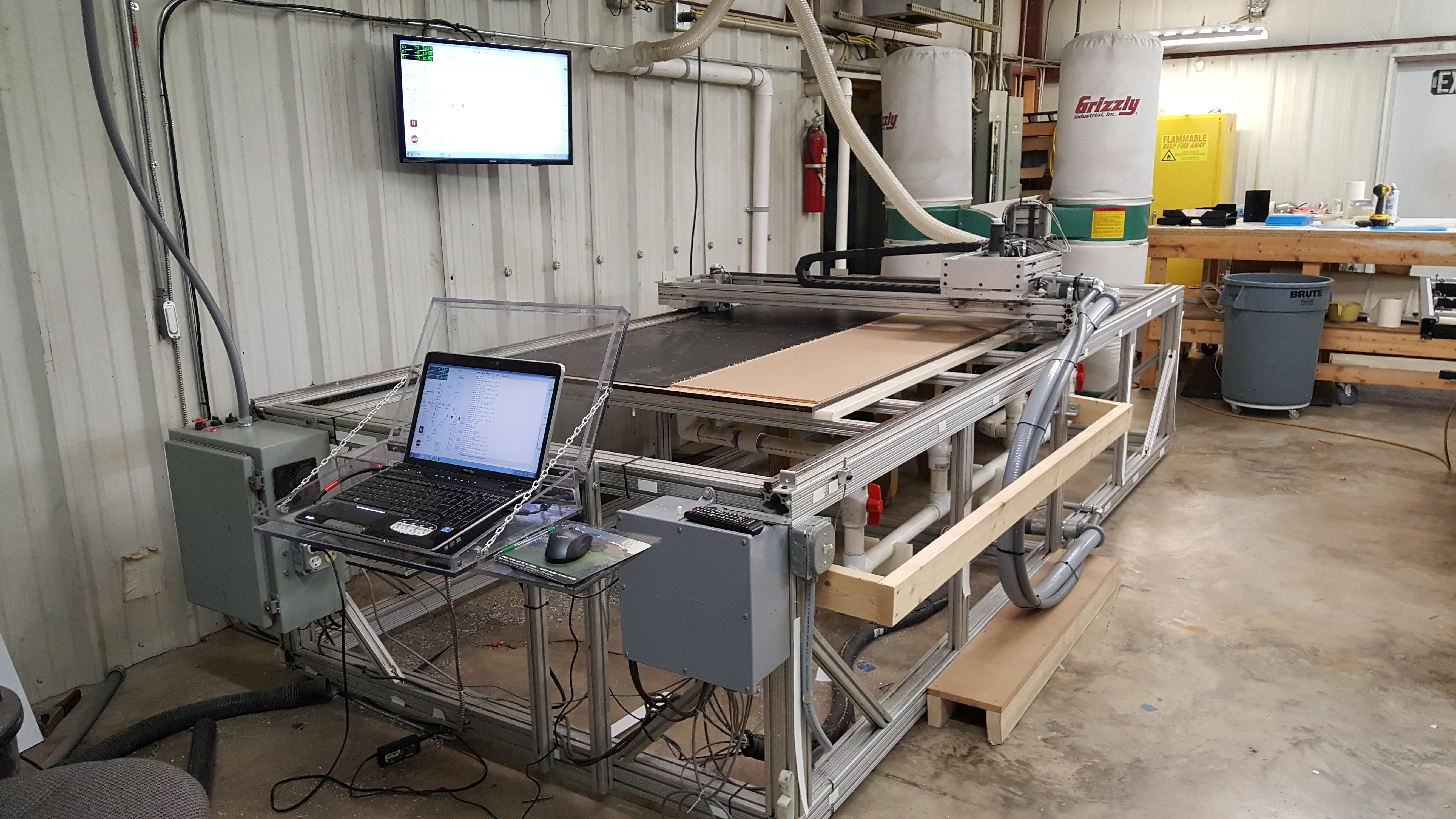 CNC Machining Table 10' X 4'