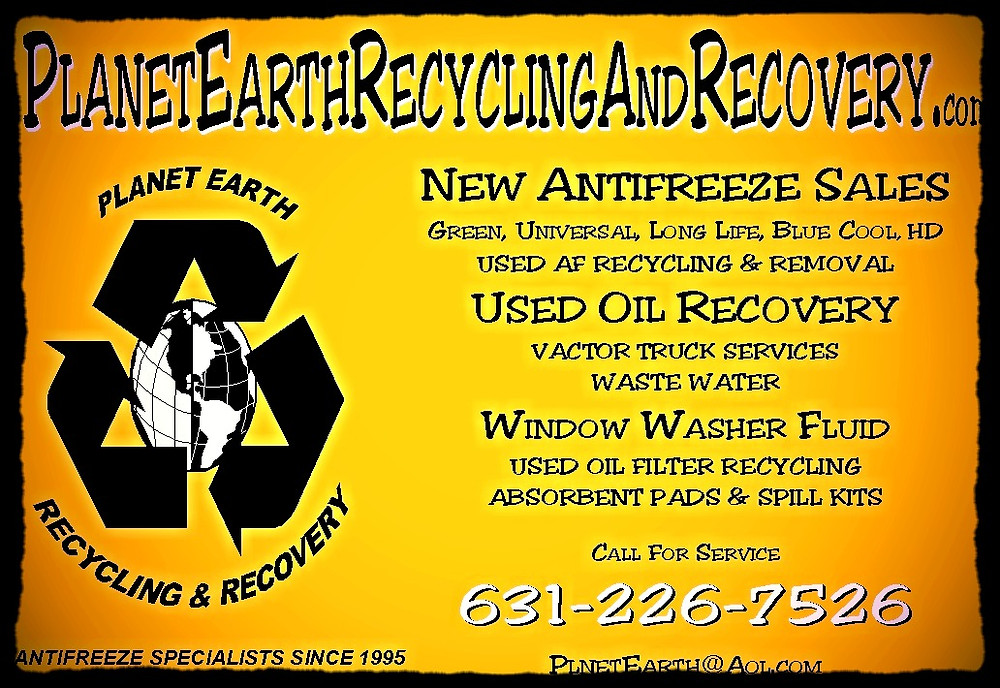 New Antifreeze, Motor Oil Recovery, Windshield Washer Fluid, Oil Filter Recycling