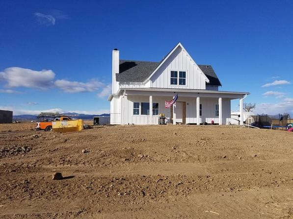 New home excavation near Loveland