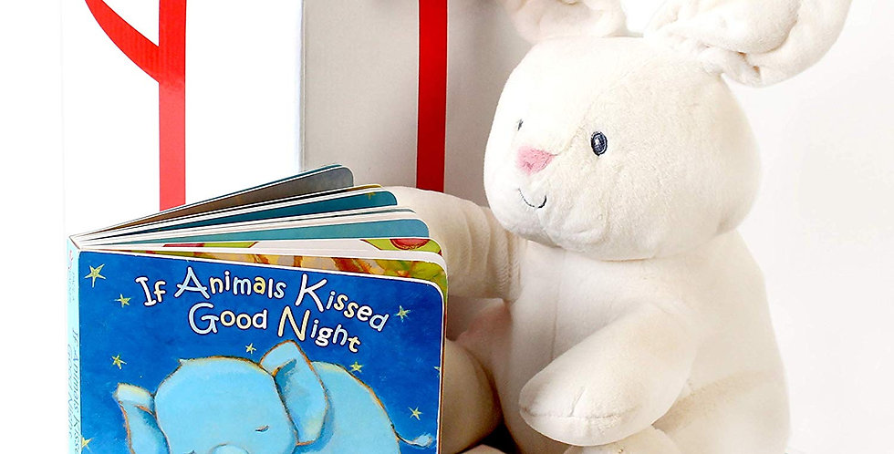 Gund baby flora the bunny animated plush with a bedtime story  book