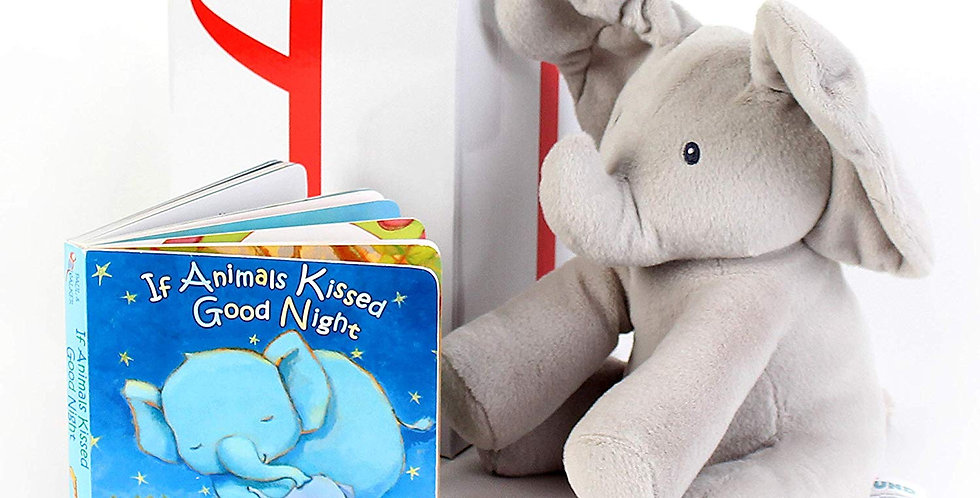 Gund baby animated elephant with a bedtime story book