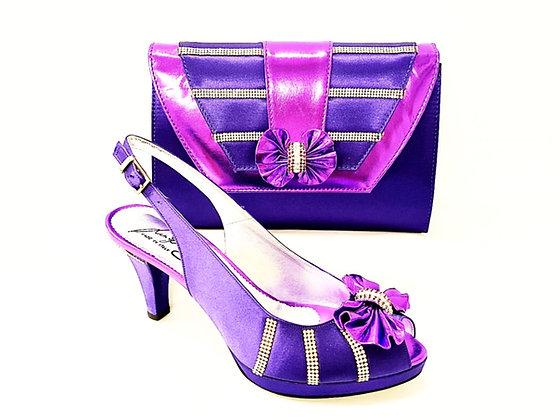 Solen, Salgati purple mid-height strass wedding set