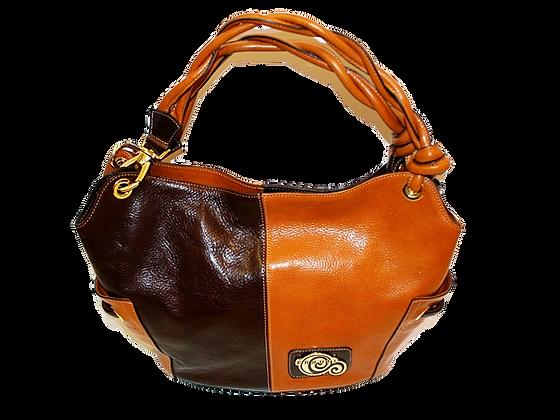 Cerruti Brown & Camel Leather Large Tote Bag