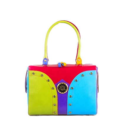 Shapes, Cerruti mid-shaped multicolour leather tote bag