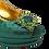 Thumbnail: Venice, emerald mid-heel wedding shoes and matching bag