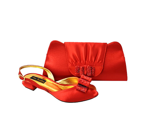 Ava, Mary Shoes red very low wedding shoes and matching bag