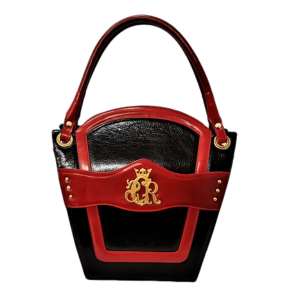 Cerruti 'Crown' black and red limited edition handbag